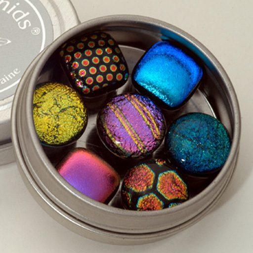 Dichroic Glass Fridge Magnets