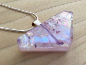Pink DIchroic Pendant