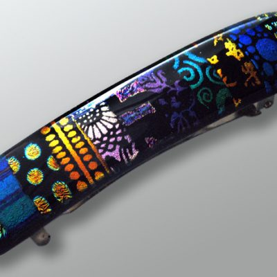 dichroic glass barrette