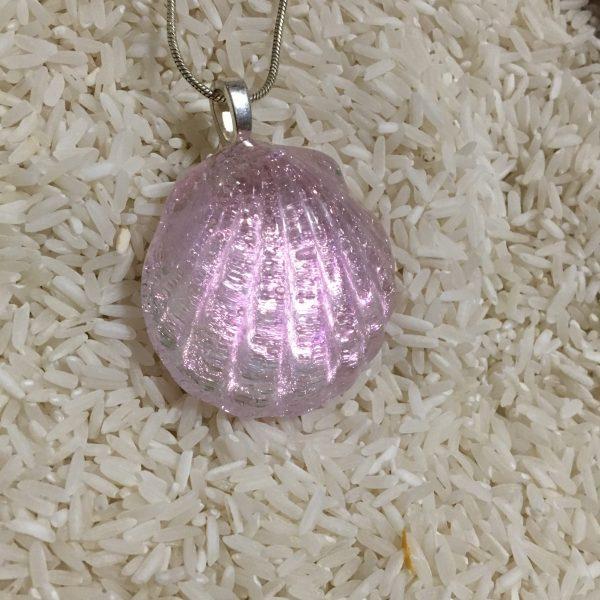 Ocean Treasure – Dichroic Glass Pendant
