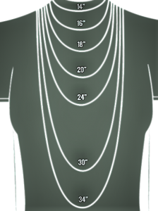 image showing necklace chain lengths